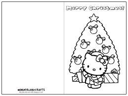 Printable Christmas Card For Kids Childrens Cards To Color Coloring Thanks Reading Best Gallery
