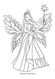 Printable Disney Fairy Coloring Pages Free Barbie Tale