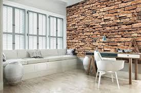 dekoshop fototapete braune backsteinmauer wandtapete p8