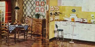 A Bright Yellow Kitchen From The 1940s