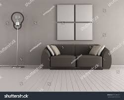 Brown Couch Living Room by Brown Couch Minimalist Living Room Floor Stock Illustration