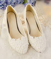 Daisy Raised Vintage Style Wedding Flats Shoes CM L084 Buy Lace N Bling At The WS