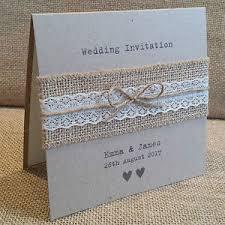 VINTAGE STYLE WEDDING INVITATION With Hessian Amp Lace