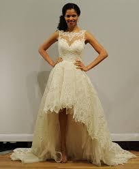 Justin Alexander Illusion Neckline Beaded Lace Wedding Dress 2016 With High Low Hemline