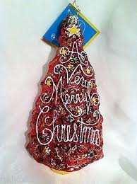 Radko 2007 Dated The MERRIEST Red Christmas Tree Ornament NEW Christopher For SALE