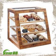 Vintage Wooden Display Rack Cake HolderAntique Acrylic Bakery Caserustic Handmade Dessert Storage