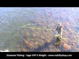 streamer fishing for trout on a sink tip line and swinging tactics