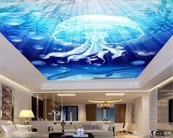 großhandel modern home dekoration tapete blau unterwasser quallen und dolphin wohnzimmer schlafzimmer zenith wallpaper yunlin888 11 36 auf