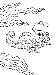 The Cartoon Sea Animals Coloring Pages Are So Fun For Kids To Color Description From