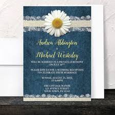 Daisy Reception Only Invitations