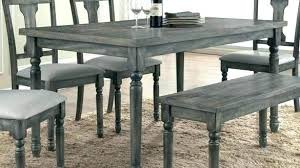 Distressed Dining Room Sets Gray Table Set Org