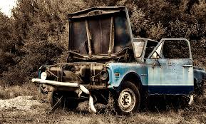 Rusty Old Blue Truck By DillonStein