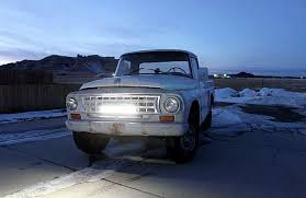 how a led light bar brightens road for 1963 international truck