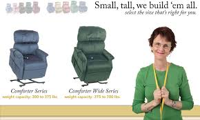 the comforter heavy duty lift chair series