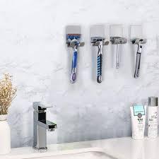 langray kleber haken rasiererhalter doppelhaken metall wasserdichter rasiererhalter edelstahl badetuchhalter für die dusche hält bis zu 1 kg 4 stück