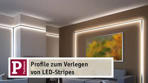 indirektes led licht yourled und duo und delta profile