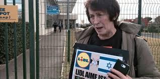 siege lidl occupation du siège de lidl et appel au boycott de produits israéliens