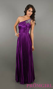 one shoulder prom gowns one shoulder purple long dress promgirl
