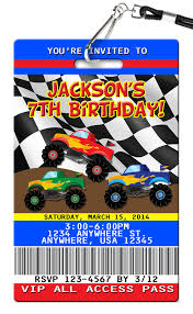 Monster Truck Birthday Invitations - PVC Invites - VIP Birthday ... Free Printable Birthday Cards With Monster Trucks Awesome Blaze And The Machines Invitations Templates List Truck Party 50 Unique Ideas Cookie Free Pvc Invites Vip Invitation Novel Concept Designs Mud Thank You Card Truck Party Printable