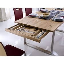 design esstisch eiche massivholz geölt ausziehbar tina filigranes edelstahl gestell