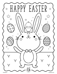 Nod Printable Coloring Page Easter
