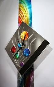 Modern Metal Wall Art Pendulum Clock Abstract Sculpture Decor Painting On Original Design By Alex Kovacs
