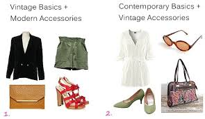 How To Wear Vintage Fashion Clothing Mix And Match Basic Pieces