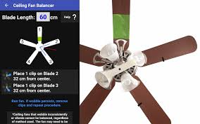 how to remove the wobble from that ceiling fan using an app