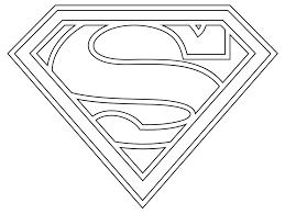 Printable Superman Logo Coloring Page