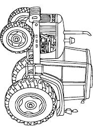Coloriage De Tracteur John Deere A Imprimer Aisé Tracteur A Colorier