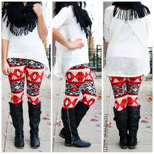 red and white print leggings uoionline com women u0027s clothing