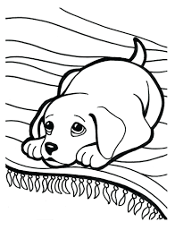 Cute Puppy Coloring Pages Kids Free Book Pet Books Pictures