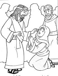 Jesus Heals The Sick In Miracles Of Coloring Page