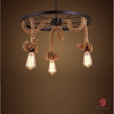 Dinasti Art Loft Gaya DIY Liontin Lampu Tali Dekoratif Alami Gantung Edison Vintage Old School