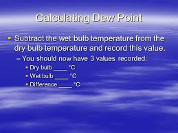 dew point and relative humidity ppt