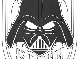 Mask Of Darth Vader Coloring Pages Hellokidscom