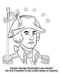 Presidents Day General George Washington On Celebration Coloring Page
