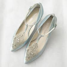 Annalise Something Blue Art Deco Wedding Shoes Bella Belle