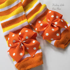 candy corn leg warmers for baby girls and newborns ready to
