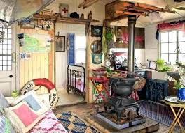 Shabby Chic Beach Cottage Furniture Rustic With Old Wood Stove House