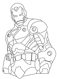Printable Ironman Colouring Pages For Kids