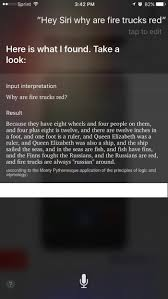 My Favorite Siri Answer Of All Time Why Are Fire Trucks Red Funny Album On Imgur Are Fire Red By Wtorri21 Siri Presentation Copy Deep South Trucks Greenwood Emergency Vehicles 10 Life Faqs Explained What Look Like Around The Globe Sarasota County Department Fl There So Many Stubbed Toes In Our Ambulances Geoffrey Hosta Googles Featured Snippets Worse Than Fake News The Outline