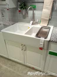 Ikea Domsjo Sink Single by Kitchen Sinks Ikea Farmhouse Sink Kitchen Theedlos