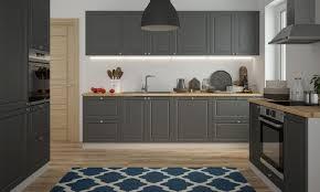 küchenzeile küchenblock küche einbauküche grau ral 7022 umbragrau matt lackiert landhaus