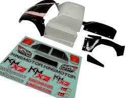 100 Losi Trucks King Motor X2 Short Course Truck Body Kit Black White Fits LOSI