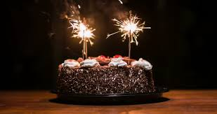 Chocolate Cake With Candles To Celebrate The Birthday Stock Footage Video