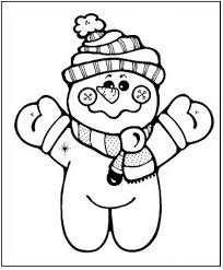 Little Snowman Winter Coloring Pages