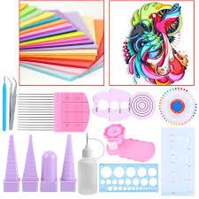 DIY Handmade Paper Quilling Tools Set Kit Stripes Tweezer Pins Slotted Tool Origami Craft Decorating