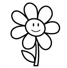 Smile Spring Flower Coloring Pages