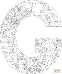 Click The Letter G With Plants Coloring Pages